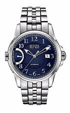 Bulova Accutron Men's 63B175 Accu Swiss Calibrator Blue Dial Dress Watch