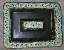 Vintage Antique Midcentury Modern Maddox CA Pottery Ashtray With Seafoam Glaze