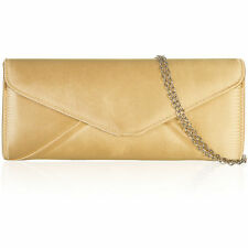 New Classy Satin Clutch Envelope Bag Bridal Designer Ladies Evening Party Prom