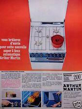 PUBLICITÉ 1967 ARTHUR MARTIN FEUX ET FOUR S'ALLUMENT SANS ALLUMETTE -ADVERTISING