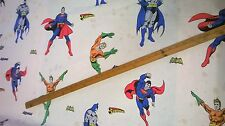 100% cotton fabric  DC  comics Batman Superman Aquaman  by the metre