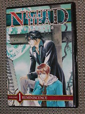Night Head Genesis Anime DVD Volume #1: Reminiscence Anime Works - Great Shape