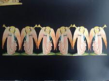 RARE Jolie ancienne frise ajourée en papier  Ange découpis