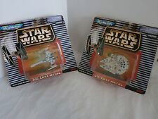Star Wars MicroMachines Diecast X-Wing & Millennium Falcon Lot of 2 NOC Galoob