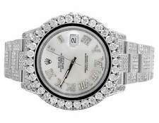 Mens Rolex Datejust II Full Iced 41 MM 116334 Stainless Diamond Watch 24.35 Ct