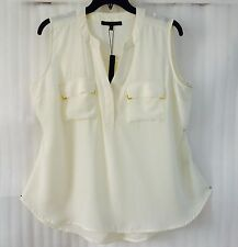 New $79~ Harve Benard ~Womens Plus size 26/24/3X/4X Ivory White Blouse Shirt Top