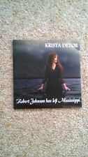 Krista Detor  Robert Johnson Has Left Mississippi  DJ CD card sleeve
