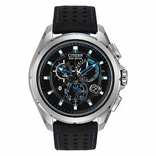 Citizen Eco-Drive Men's AT7030-05E Proximity Bluetooth Black Leather Strap Watch
