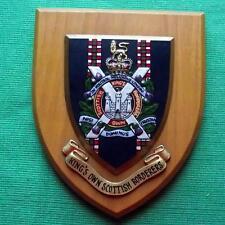 Old Kings Own Scottish Borderers KOSB Regiment Regimental Crest Shield Plaque