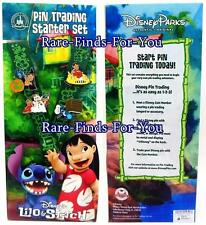 "Disney Theme Parks ""Lilo and Stitch"" Lanyard and 4 Pin Trading Starter Set (NEW)"