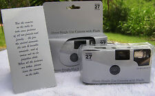 5 SHINY SILVER COLOR FILM DISPOSABLE WEDDING CAMERAS party Favors 35mm 27exp