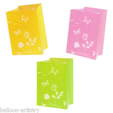 3 Tropical Luau Party Summer Lights Luminary Paper Light Bags Decoration