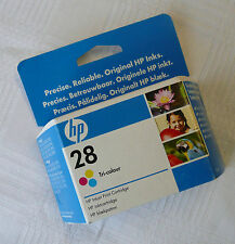 L@@K! GENUINE ORIGINAL HP 28 INKJET CARTRIDGE TRI COLOUR FREE POSTAGE!