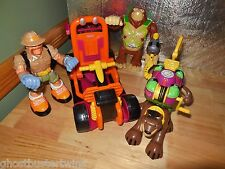 FISHER PRICE RESCUE HEROES BEACH DUNEBUGGY JET CART CAR VEHICLE FIGURE LOT