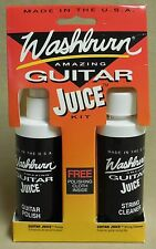 WASHBURN AMAZING GUITAR JUICE POLISH STRING CLEANER AND POLISHING CLOTH