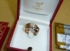 les must de Cartier Trinity 18k tricolor Gold Ring Größe 49