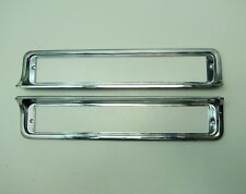 81-87 Buick Regal Grand National Parking Light Lamp Bumper Bezels Chrome NOS