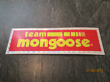 MONGOOSE BMX STICKER OLD SCHOOL BMX MONGOOSE TEAM BMX STICKER ORIGINAL 80S RARE