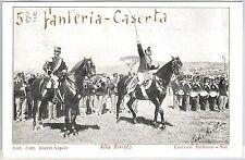 CARTOLINA d'Epoca - CASERTA Città - REGGIMENTALI 58 Fanteria - Bella! 1905
