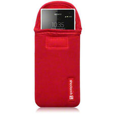 Shocksock Neoprene Pouch Case For Sony Xperia Acro S / Red
