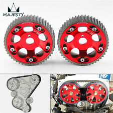 2Pcs Adjustable Cam Gears Pulley Timing Gear for Toyota Supra 1JZ 2JZ Red