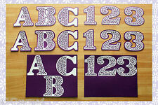 CRAFT ROBO/SILHOUETTE Filigree Alphanumeric Toppers & mats templates CD135