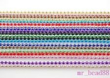 Assorted Colors 20Chains High Qaulity Metal 2mm Ball Bead Necklace Findings 27""