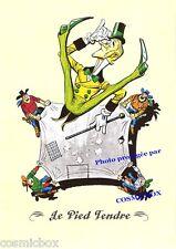 Ex libris LUCKY LUKE sépia album bd Le PIED TENDRE offset affiche cow boy saloon