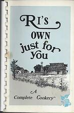 *PROVIDENCE RI VINTAGE *RI'S OWN JUST FOR YOU COOK BOOK *GROWN IN RHODE ISLAND