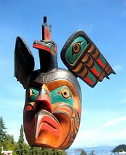 Northwest Coast First Nations Art carving: Kingfisher Mask by Ozzi Matilpi