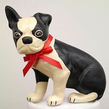 Cast Iron Sitting Boston Bull Terrier 3.4 lb Doorstop Wedge Spencer Style Repro