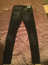 Denim Life Women's Skinny Fit  Stylish Jeans-Black Size 34
