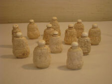 12 Chinese Cased Bone Snuff Bottles