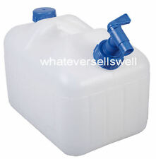 10 LITRE RIGID WATER CARRIER CONTAINER with TAP l plastic splash camping caravan