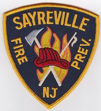 Sayreville Fire Prev. New Jersey Firefighter Patch NEW!!