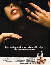 PUBLICITE ADVERTISING 045  1973  CHEN-YU vernis à ongles & rouge à lèvres FLORE