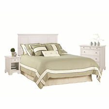 """Queen/Full White Headboard Night Stand """"Chest Set"""" Bed Room Furniture Accent NEW"""
