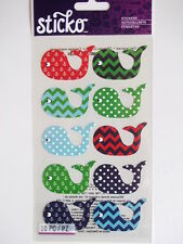 STICKO STICKERS - PATTERNED WHALES