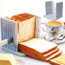 Bread Toast Sandwich Slicer Cutter Mold Maker Kitchen Guide Slicing Tools AI1G