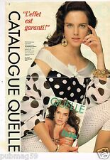 Publicité advertising 1990 (2 pages) Le Catalogue Quelle
