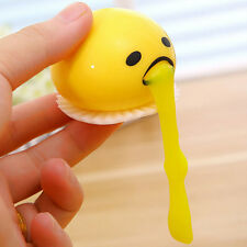 Yellow Vomiting & Sucking Lazy Egg  Vent Stress Relief Egg Yolk Toy Gift Cool