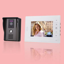 "7"" LCD Video IR Doorbell Intercom Security Indoor Monitor+Outdoor Camera F5"