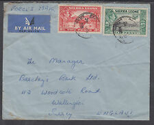 Sierra Leone Sc 173, 176A on 1953 Forces Air Mail Cover to Surrey, England