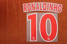 Flocage RONALDINHO n°10 Rouge PSG  patch shirt Paris Saint Germain re9/1 maillot