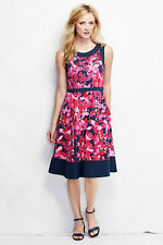 Women's Lands' End Regular Ponté A-line Dress Floral Size 10  $79.0 Sold Out!