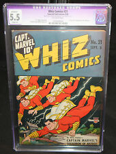 Whiz Comics #21 - Origin & 1st App of Lt Marvels - CGC Restored Grade 5.5 - 1941