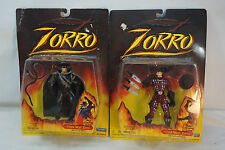 VINTAGE ZORRO ACTION FIGURES PLAYMATES LOT 2 CHAIN MAIL COLD STEEL 11400 MIP