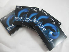 TDK Life on Record 5 Pack BD-R Disc Regular Jewel Case - 25GB 1-6X NOS