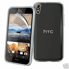 Dura sottile trasparente TPU GEL Custodia Cover & Screen Guard Per HTC Desire 830