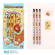 1set Rilakkuma Panda ver. Stationery Set - Pencil Eraser Pencil Sharpener Ruler